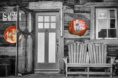 Photograph - General Store Entrance Sbw by Susan Candelario