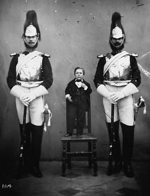 Photograph - General Tom Thumb by London Stereoscopic Company