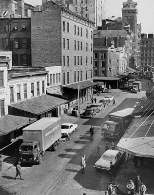 General Photograph - General View Of Moving Vans Loading Up by New York Daily News Archive