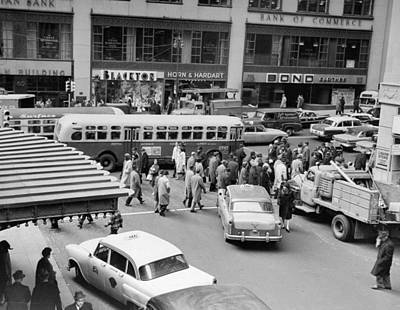 General Photograph - General View Of Pedestrians Crossing by New York Daily News Archive