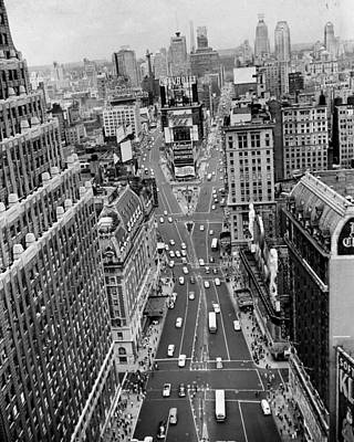 General Photograph - General View Of Times Square Looking by New York Daily News Archive