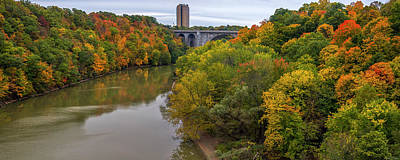 Photograph - Genesee River Gorge Rochester Ny by Mark Papke