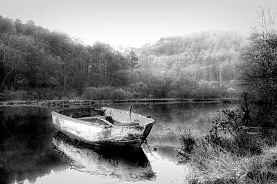 Photograph - Gentle Morning In Radiant Black And White by Debra and Dave Vanderlaan