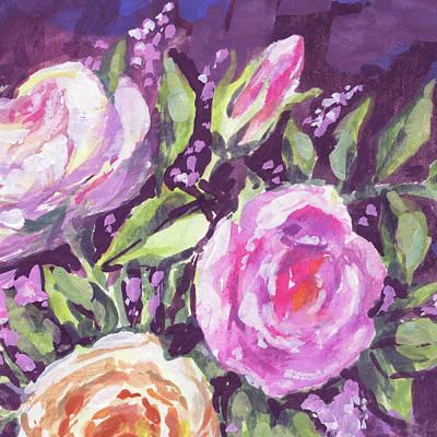 Painting - Gentle Pink Floral Impressionism  by Irina Sztukowski