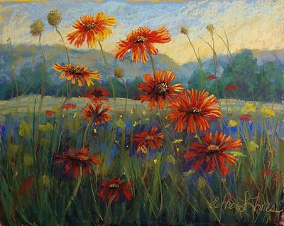 Pastel - Gently Glow The Firewheels by Esther Jones