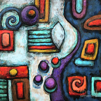 Painting - Geometric Abstract 5 by Amy E Fraser