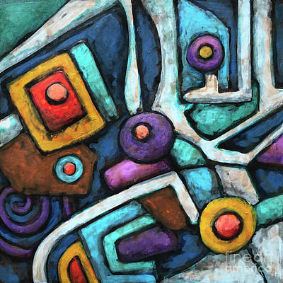 Painting - Geometric Abstract 6 by Amy E Fraser
