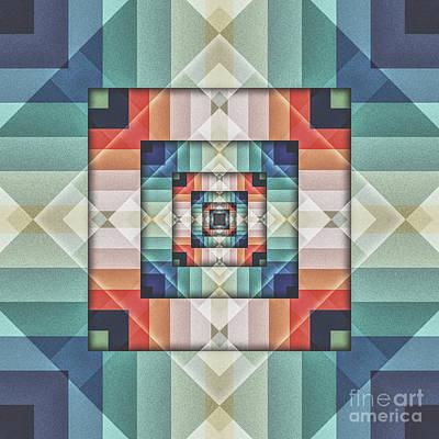 Digital Art - Geometric Box Of Colors by Phil Perkins