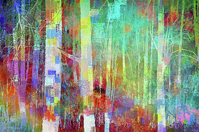 Digital Art - Geometric Forest by Tara Turner
