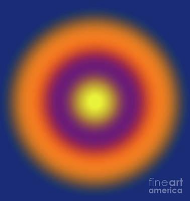 Digital Art - Geometric Lights, Number 6, Gradient by Alex Caminker