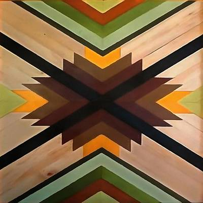 Painting - Geometric Wood Pattern by Taiche Acrylic Art