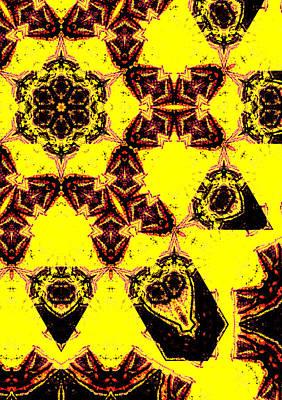 Digital Art - Geometric Yellow Abstract 2 by Artist Dot