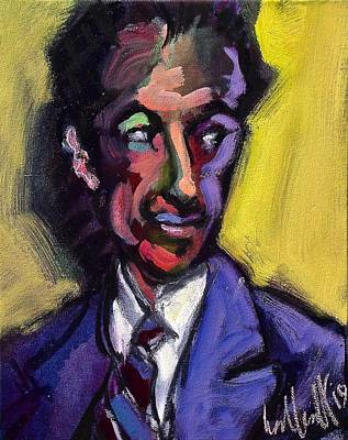 Painting - george Gershwin by Les Leffingwell