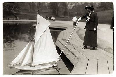 Painting Royalty Free Images - George Grantham Bain - Sunday Sailing, Central Park, New York City, ca 1910 Royalty-Free Image by George Grantham Bain