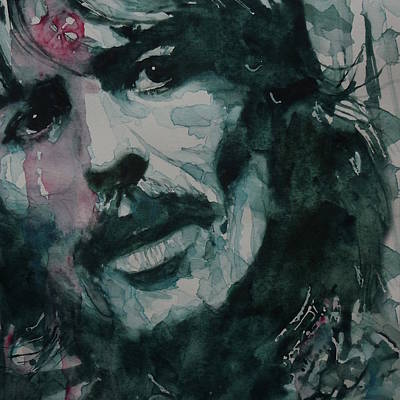 Beatles Wall Art - Painting - George Harrison - All Things Must Pass by Paul Lovering