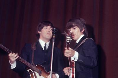 Beatles Photograph - George Harrison, Paul Mccartney by Art Zelin