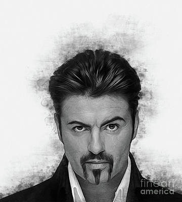 Digital Art - George Michael by Ian Mitchell