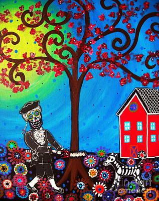 Painting - George Washington Dia De Los Muertos by Pristine Cartera Turkus