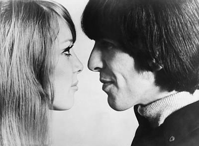 Photograph - Georges Harrison With The Model Pattie by Keystone-france