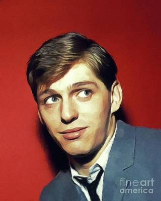 Music Paintings - Georgie Fame, Music Legend by Esoterica Art Agency