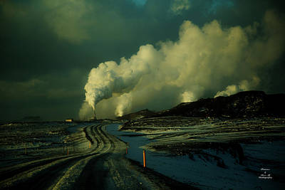 Photograph - Geothermal  by Kevin Banker