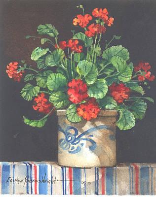 Wall Art - Painting - Geranium I by Carolyn Shores Wright