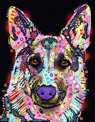 Painting - German Shepherd 2 by Dean Russo Art