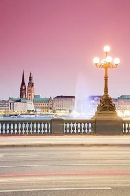 Photograph - Germany, Hamburg, View From by Mel Stuart