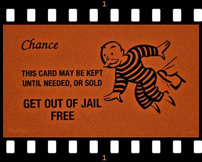 Photograph - Get Out Of Jail Free Chance Film by Rob Hans
