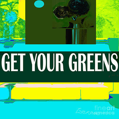Digital Art - Get Your Greens by Zsanan Narrin