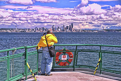 Photograph - Getting The Shot - Seattle by Allen Beatty