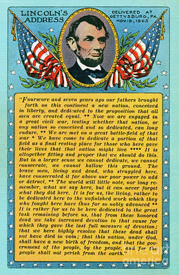 Photograph - Gettysburg Address By Abraham Lincoln by Mark Miller