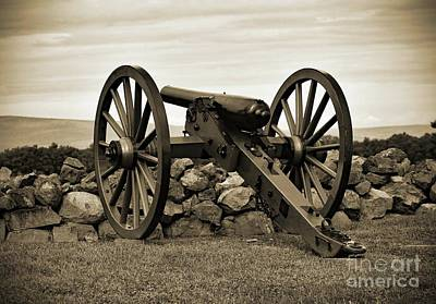 Kids Cartoons - Gettysburg Battlefield - Cannon #2 by Cindy Treger