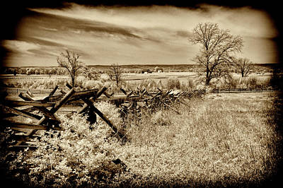 Photograph - Gettysburg Battlefield Infrared Landscape by Paul W Faust - Impressions of Light