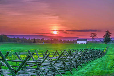 Photograph - Gettysburg Pennsylvania At Sunset by Bill Cannon