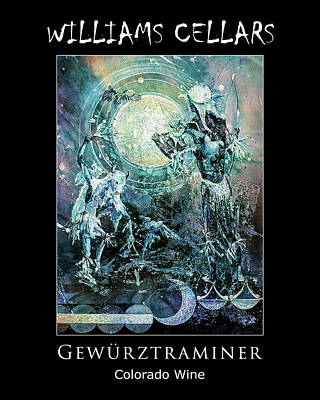 Painting - Gewurztraminer Wine Label by Williams Cellars
