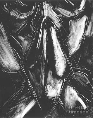 Drawing - Ghandi Praying II by Blake Lasley