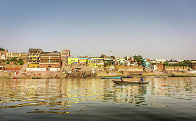 Photograph - Ghat Varanasi India by Gary Gillette