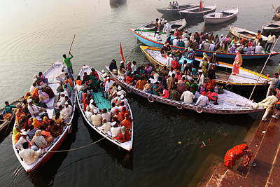 Ganges Photograph - Ghats Of Varanasi, India by Soumen Nath Photography