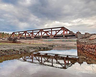 Photograph - Ghost Bridge - Colebrook Reservoir by Tom Cameron