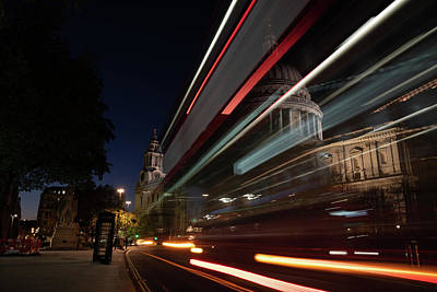 Photograph - Ghost Bus At St Paul's #3 by Framing Places