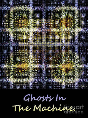 Digital Art - Ghosts In The Machine - Poster  And T-shirt Design by Walter Neal