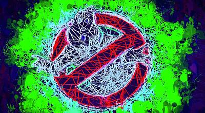 Mixed Media - Ghostbusters Logo by Al Matra
