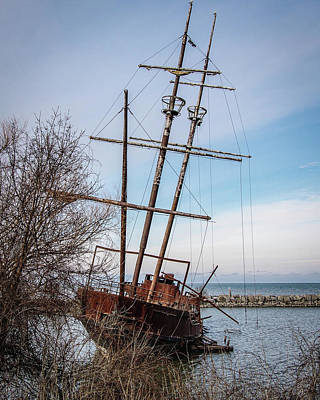 Photograph - Ghost Ship by Exploration Project