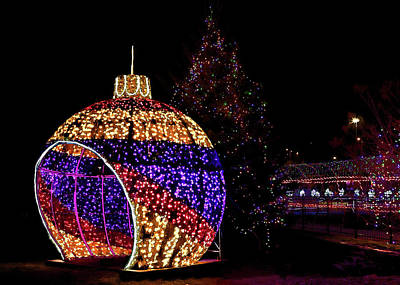 Photograph - Giant Christmas Ornament by Susan Rissi Tregoning