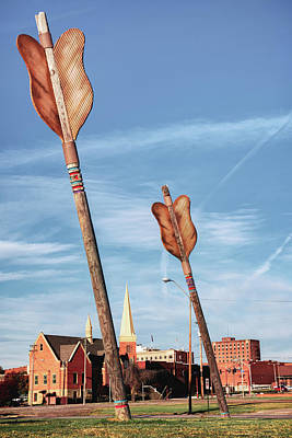 Photograph - Giant Wooden Arrows Of Fort Smith Arkansas by Gregory Ballos