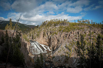 Photograph - Gibbon Falls In Yellowstone by Mark Duehmig