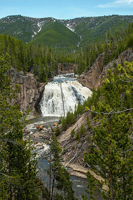 Photograph - Gibbon Falls by Matthew Irvin