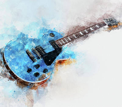 Painting - Gibson Guitar - 05 by Andrea Mazzocchetti