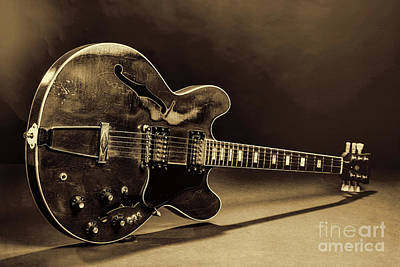 Photograph - Gibson Guitar Images On Stage 1744.015 by M K Miller